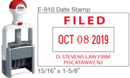 "E-910 Date Stamp 15/16"" X 1-5/8"" Dater