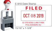 "E-910 Date Stamp 15/16"" X 1-5/8"" Dater One line above and two lines below the date."