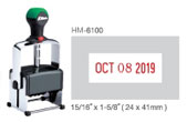 HM-6100 - HM-6100 Heavy Duty Self-Inking Dater
