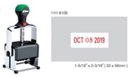 HM-6106 - HM-6106 Heavy Duty Self-Inking Dater